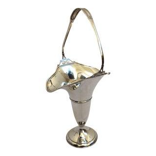 Sterling Silver Basket Vase