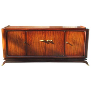 French Art Deco Mahogany Sideboard / Buffet By Jules Leleu Circa 1940s.