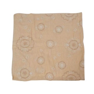 Linen Table Cloth with Floral Design