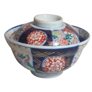 Imari Covered Bowl