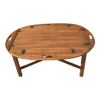 Vintage Ethan Allen Butler's Tray Coffee Table