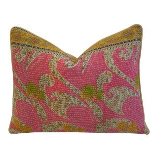 Vintage Kantha Feather & Down Textile Pillow