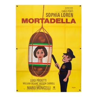 "Vintage 1972 French Sophia Loren ""Mortadella"" Film Poster"