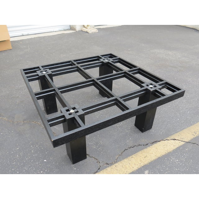 Image of New Italian Square Glass Top Coffee Table