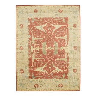 Pasargad Ny Oushak Design Handmade Hand-Knotted Rug - 8'11 X 12'1""