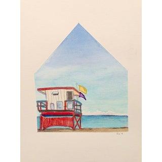 Sea Homescape No.5 Original Watercolor