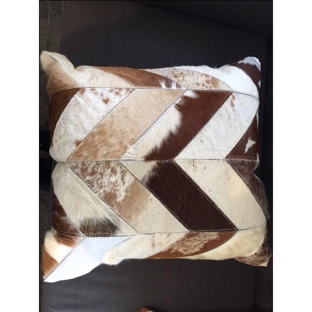 Nourison Cowhide Pillows - A Pair - Image 4 of 7