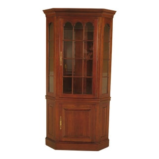 Pennsylvania House Cherry Lighted Corner China Cabinet