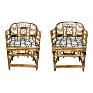 Chippendale Style Brighton Chairs - A Pair