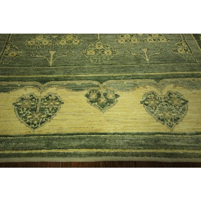 "Green Chobi Gabbeh Oriental Rug - 6'1"" x 9'3"" - Image 5 of 10"