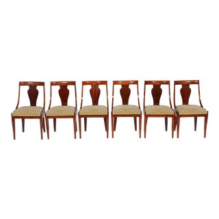 Antique Regency Style Dining Chairs - Set of 6