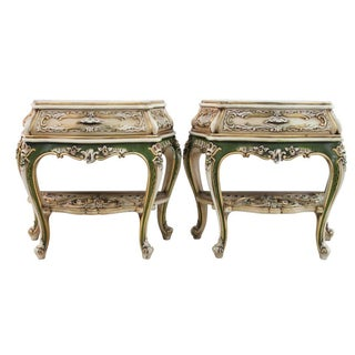 Venetian Side Tables - Pair
