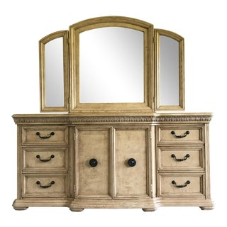 Bassett Grand Serenade Door Dresser With Triplex Mirror