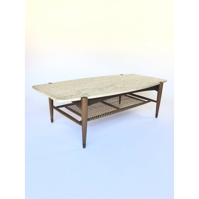 Folke Ohlsson for Dux Travertine Cocktail Table - Image 2 of 6