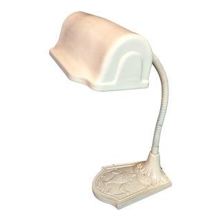 Vintage Cast Iron Gooseneck Desk Lamp