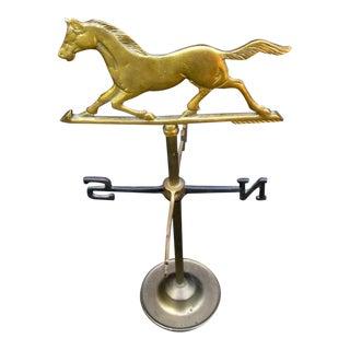 Brass Running Horse Weathervane