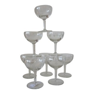 Vintage Art Deco Champagne Coups- Set of 8