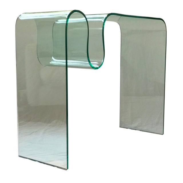Solid Bent Glass Console Table - Image 7 of 7