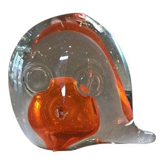 Mid-Century Modern Japanese Glass Owl