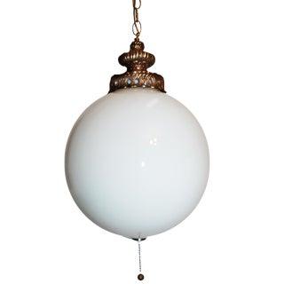Carl Falkenstein Spun Glass Globe Swag Light