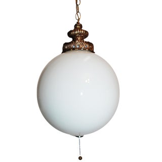 Carl Falkenstein Spun Glass Globe Swag Light