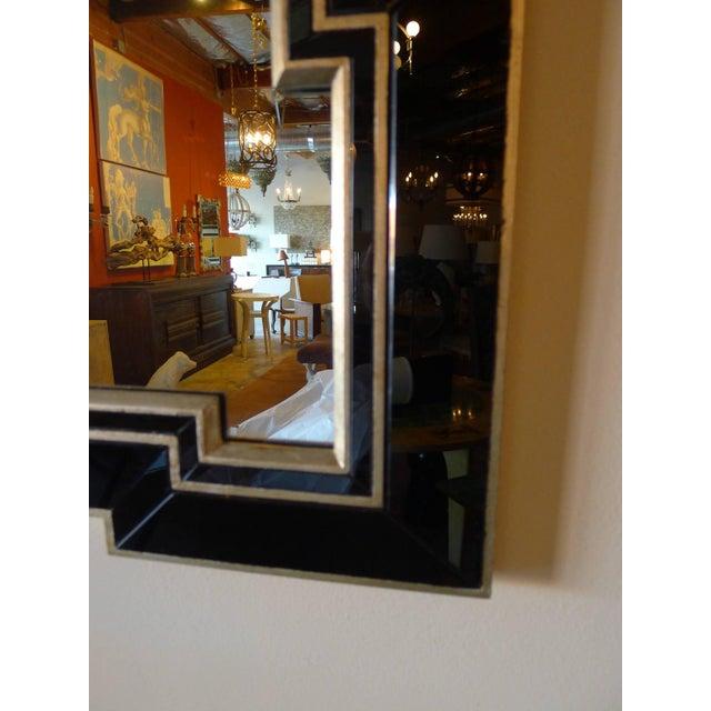 Image of Paul Marra Design Greek Key Mirror with Black Mirror Border