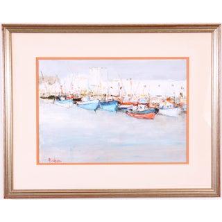 Boats in Harbor by Alain Rousseau