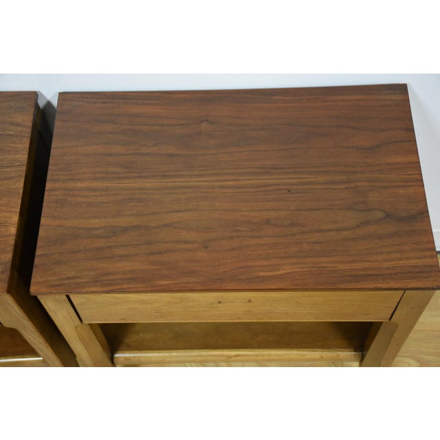 Mid-Century Walnut Nightstands - A Pair - Image 6 of 8