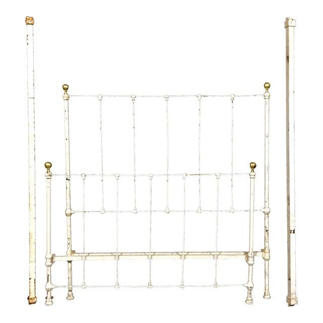 1900's Metal Bed Frame - Image 1 of 4