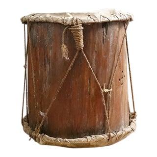 Vintage Primitive Log & Hide Drum