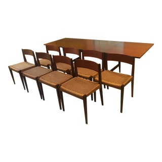 Frem Rojle Teak Dining Table With 8 Chairs