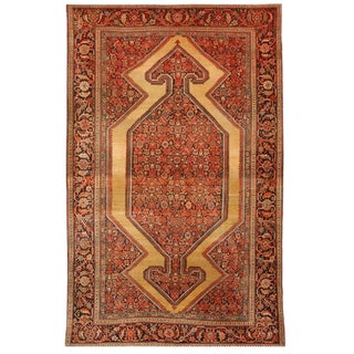 Antique 19th Century Farahan Sarouk Rug