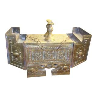 Antique Brass & Wood Shoe Shine Kit