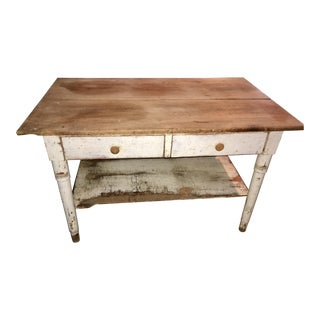 Vintage French Country Work Table Kitchen Island