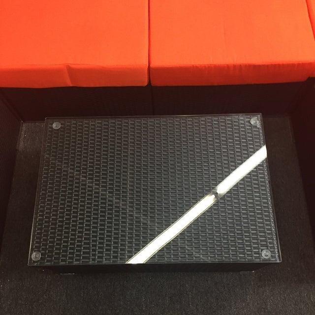 Orange Wicker Patio Set - Image 10 of 10
