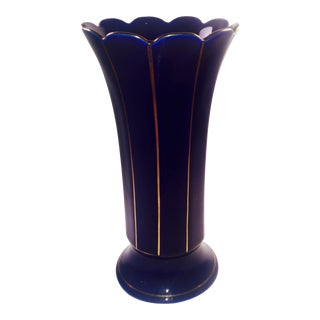 Cobalt Blue Vintage German Vase