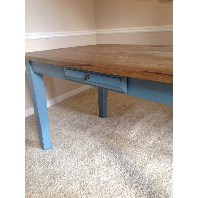 Blue Farmhouse Table - Image 6 of 8