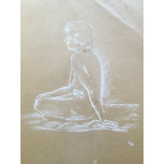 Vintage Nude Figure Study, Drawing