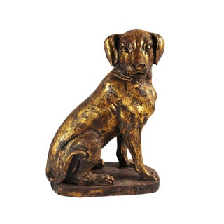 Cast Iron Gold Dog