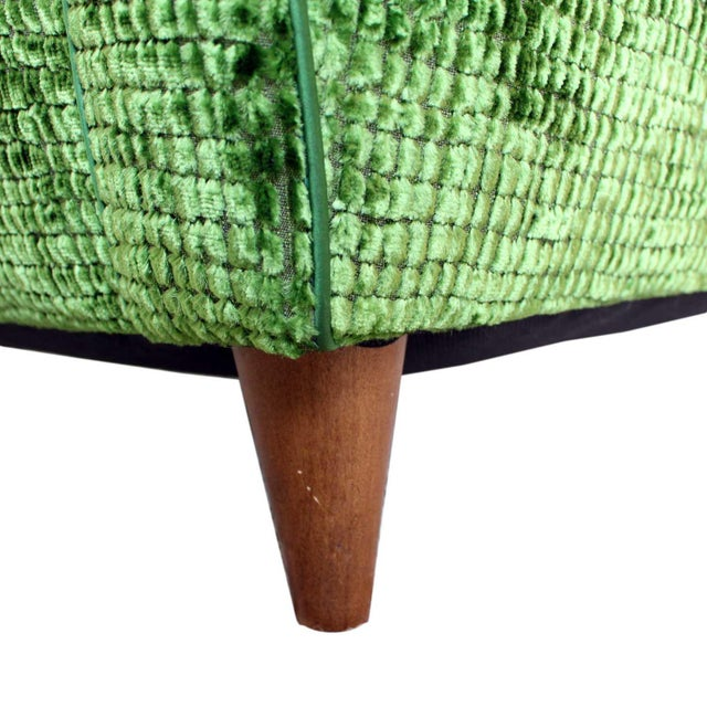 Upholstered Wingback Club Chairs - A Pair - Image 7 of 7