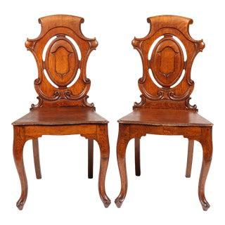 1850s English Regency Hall Chairs, PR