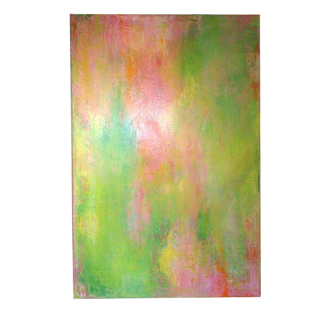 "Jo Mattison ""Orange Beach"" Painting - Image 1 of 3"