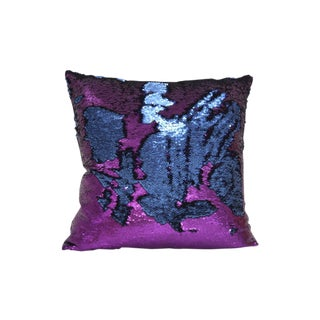 Purple Blue Sequin Pillow