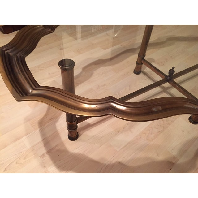 Image of Pie Crust Brass Coffee Table