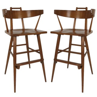 Pair of Bar Stools in the Style of Paul McCobb