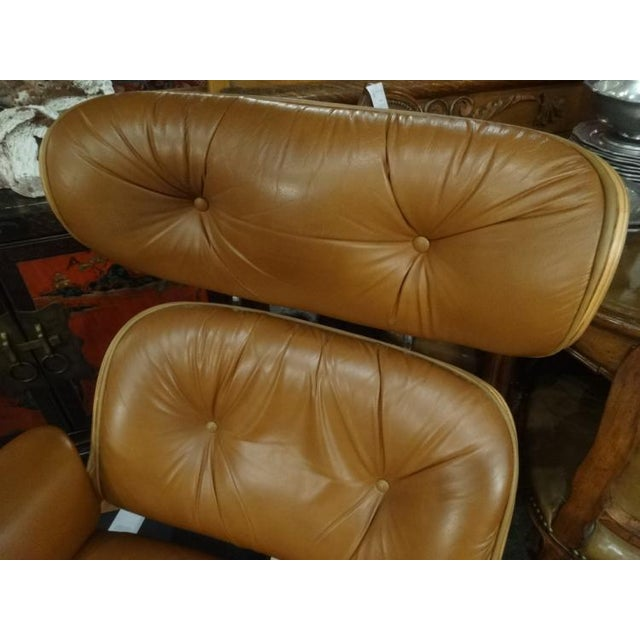 Eames Style Recliner and Ottoman - Image 3 of 6