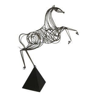 Near Lifesize Brass Horse Sculpture by C. Jere