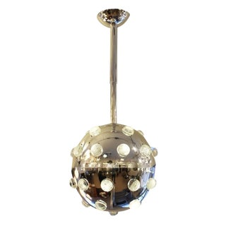 Large Chrome Pendant with Glass Studs