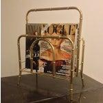 Image of Faux Bamboo Brass Magazine Holder