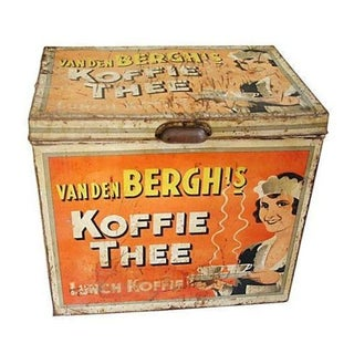 Large 1930s Van Den Berghs Koffie Coffee Tin Box